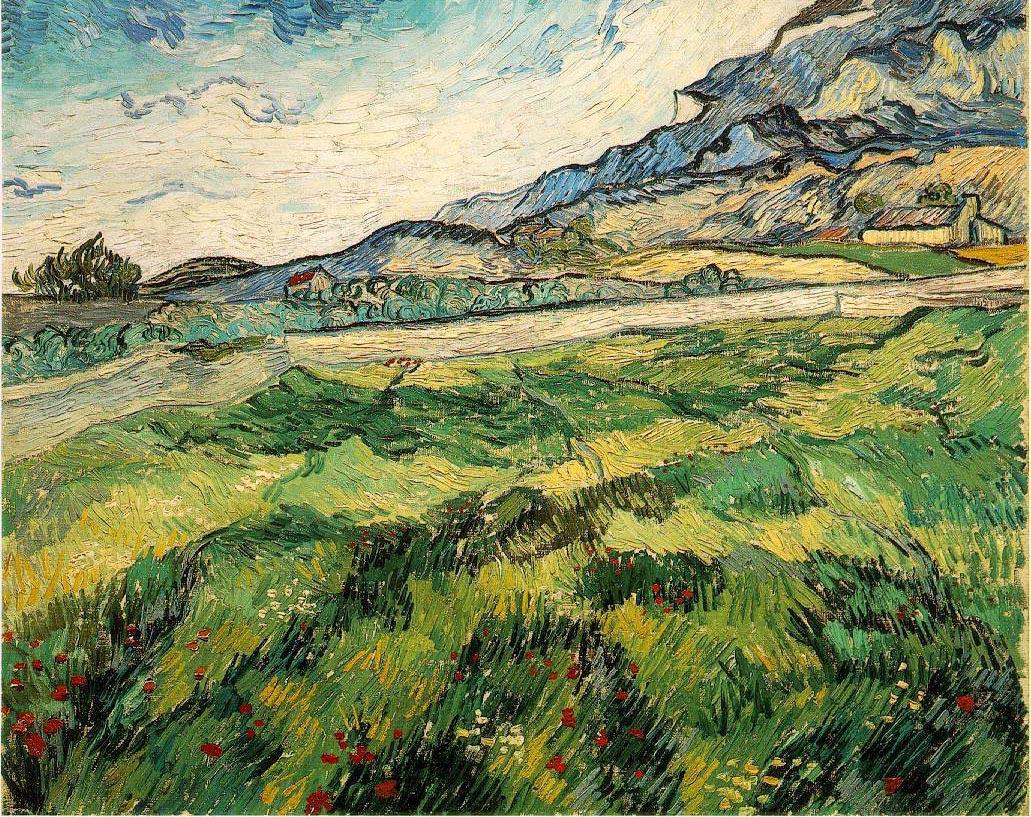 Le champ de blé vert - Van Gogh