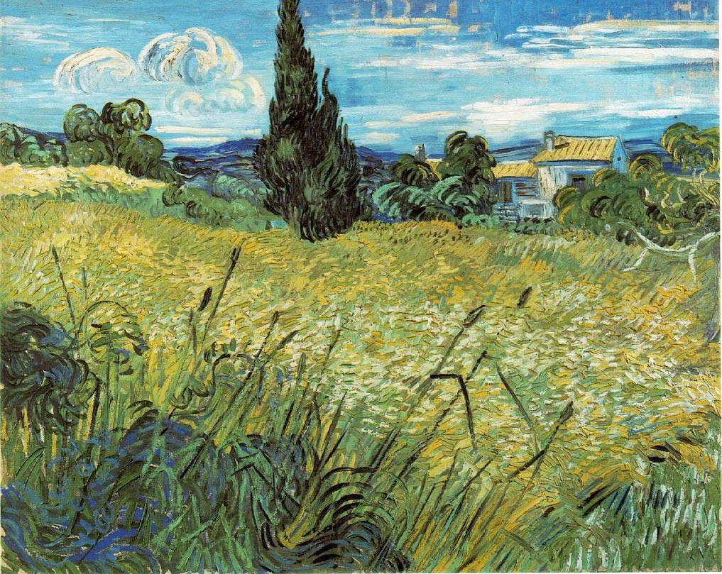 Le champ de blé vert avec cyprès - Van Gogh