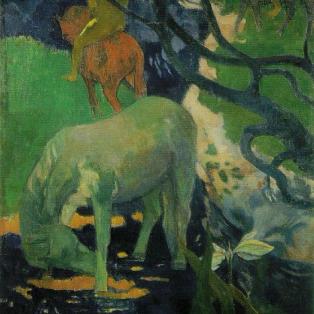 Le cheval blanc - Gauguin