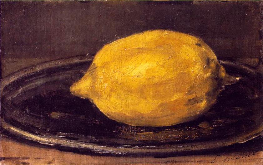 Le citron - Manet