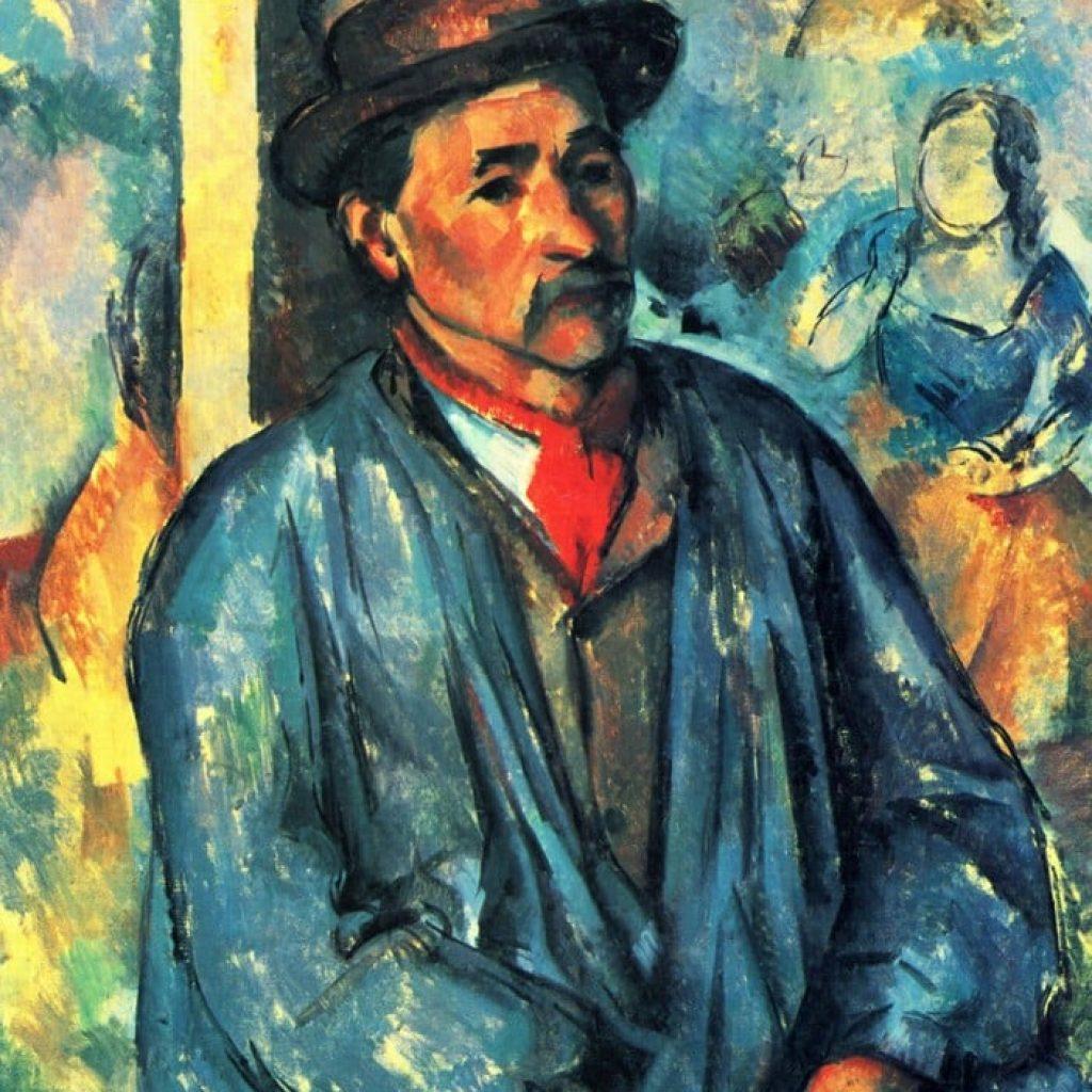 Le fermier en blouse bleue - Cézanne