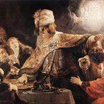 Le festin de Beltschatsar - Rembrandt