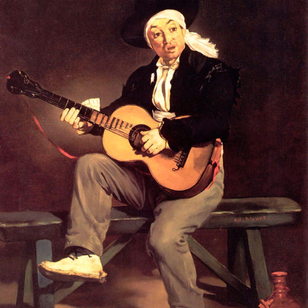 Le joueur de guitare - Manet