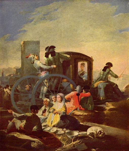 Le marchand de vaisselle - Goya
