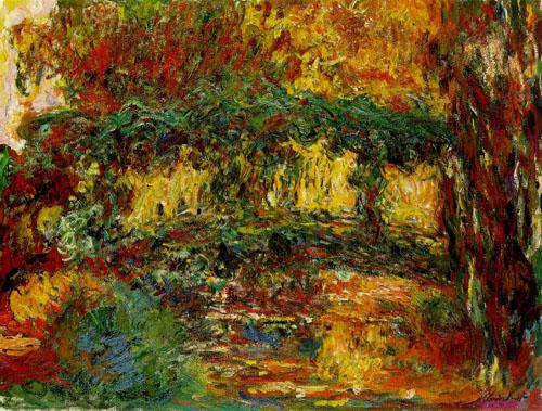 Le pont japonais - Monet