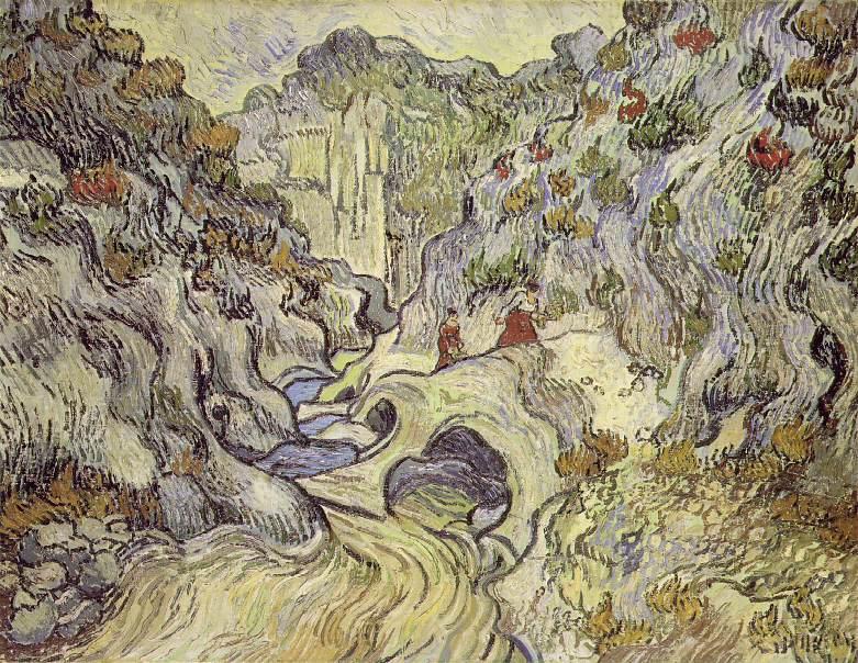 "Le ravin "" Les Peiroulets "" - Van Gogh"