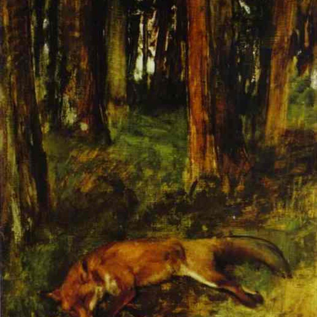 Le renard mort - Degas
