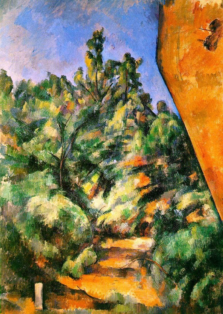 Le rocher rouge - Cézanne