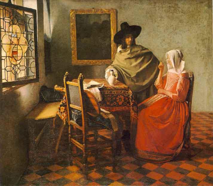 Le verre de vin - Vermeer