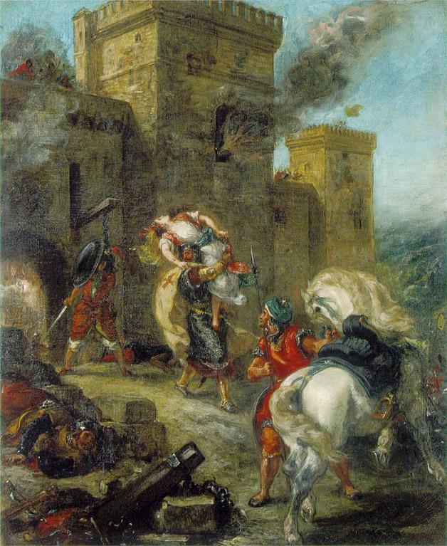 L'enlèvement de Rebecca - Delacroix