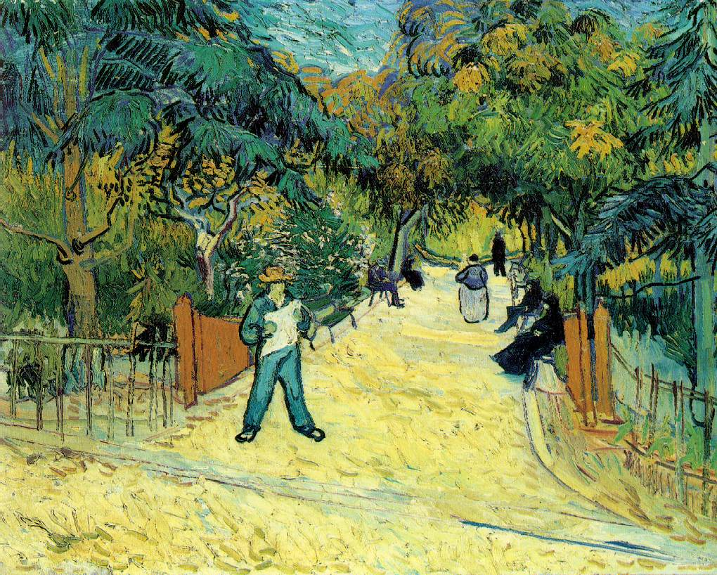 L'entrée du jardin public à Arles - Van Gogh