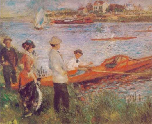 Les canotiers à Chatou - Renoir