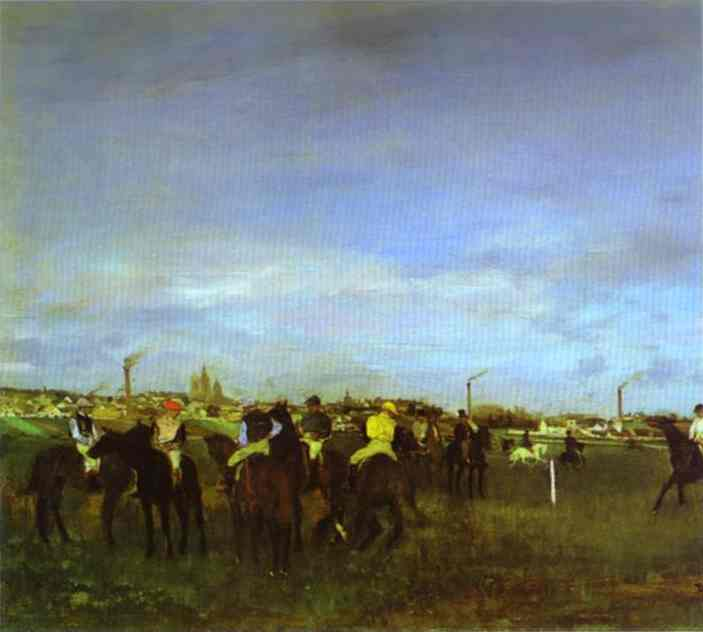 Les courses. Avant le départ - Degas