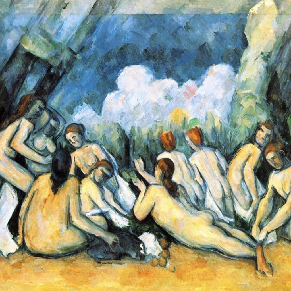 Les grandes baigneuses - Cézanne