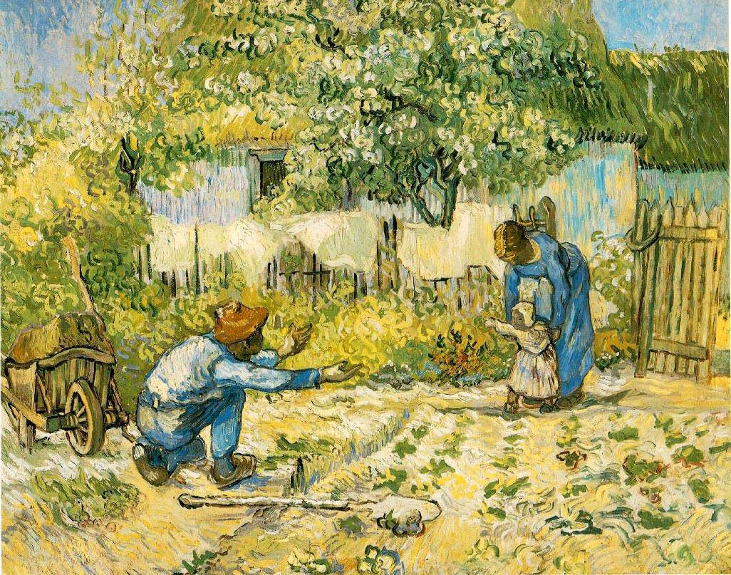 Les premiers pas (d'après Millet) - Van Gogh