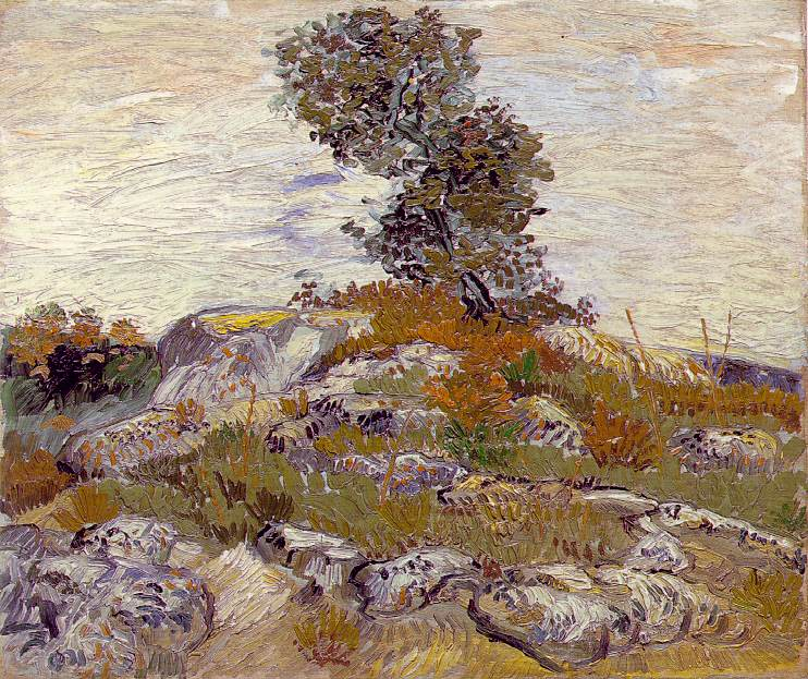 Les rochers avec chêne - Van Gogh