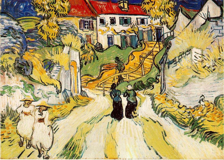 L'escalier d'Auvers - Van Gogh