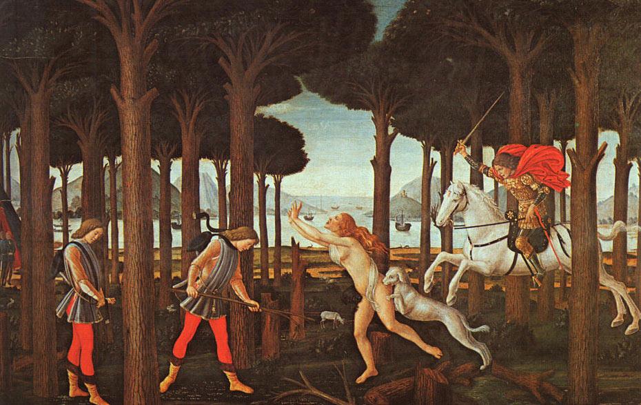 L'histoire de Nastagio degli Onesti (1er épisode) - Botticelli
