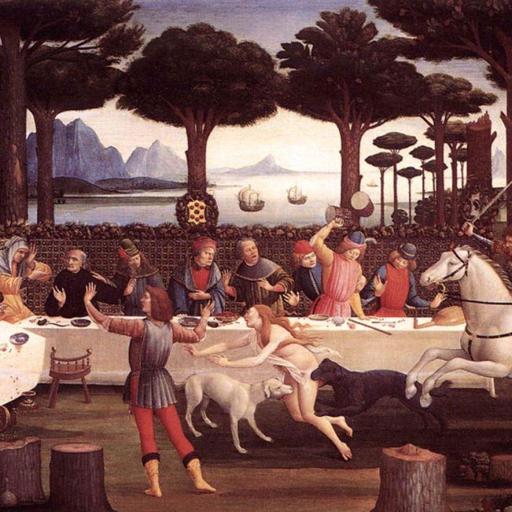 L'histoire de Nastagio degli Onesti (3ème épisode) - Botticelli