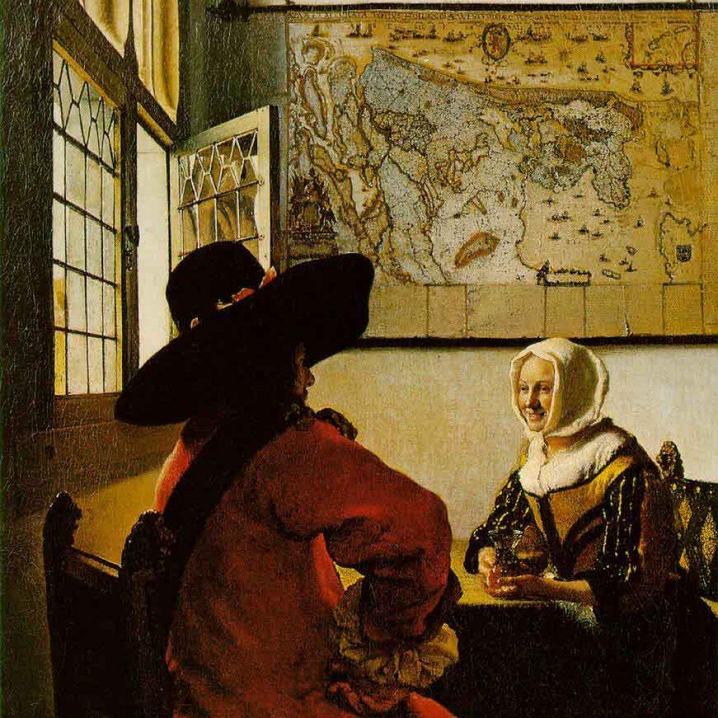 L'officier et la jeune fille riant - Vermeer
