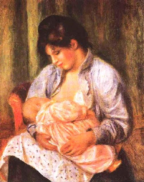 Le Bonheur - Albert Samain M%C3%A8re-et-enfant-Renoir