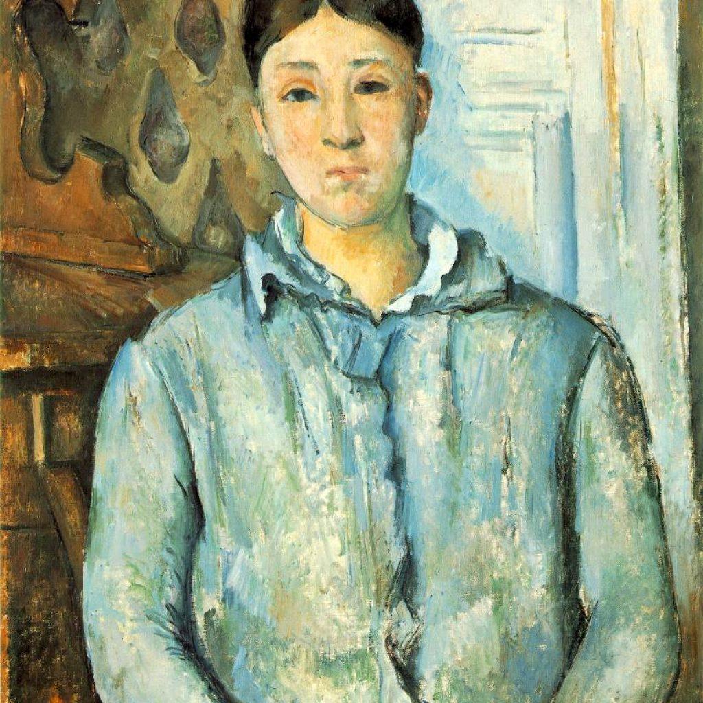 Madame Cézanne en bleu - Cézanne