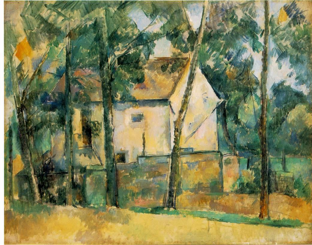 Maison et arbres - Cézanne
