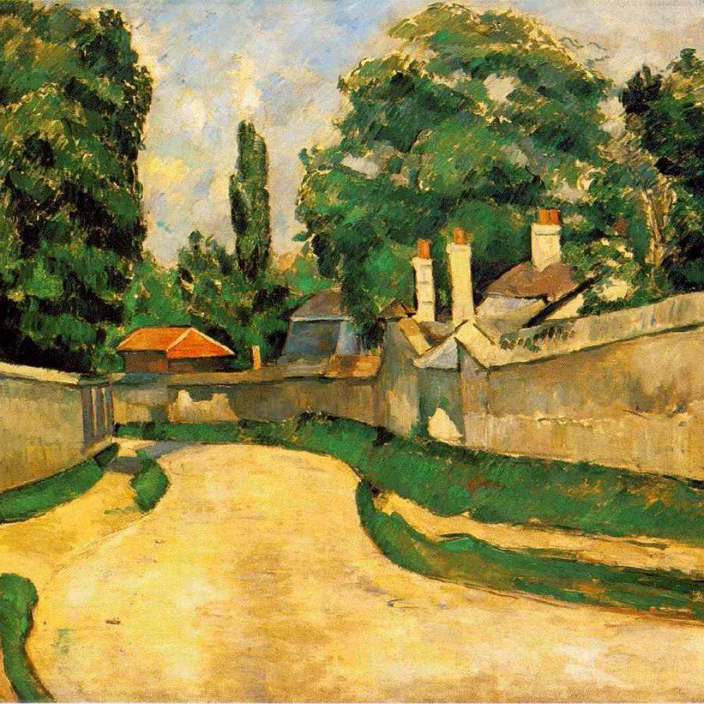 Maisons au bord d'une route - Cézanne