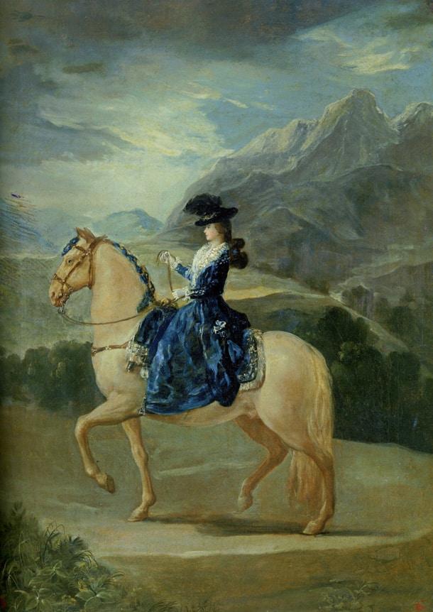 Maria Teresa Vallabriga à cheval - Goya