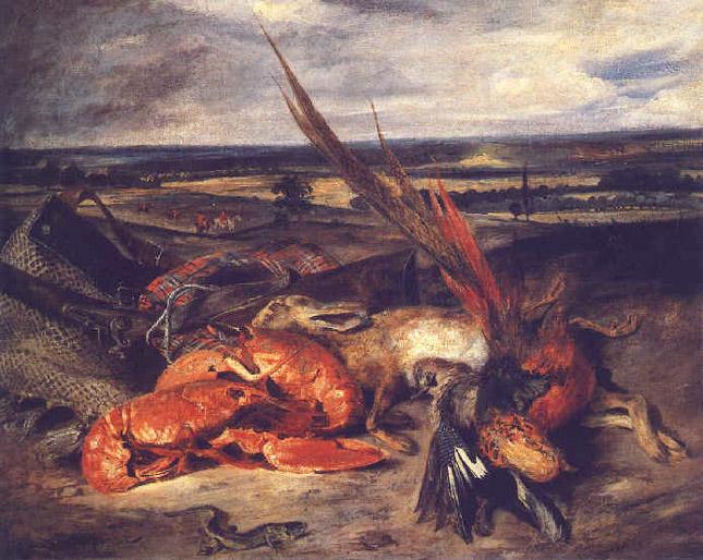 Nature morte aux homards - Delacroix