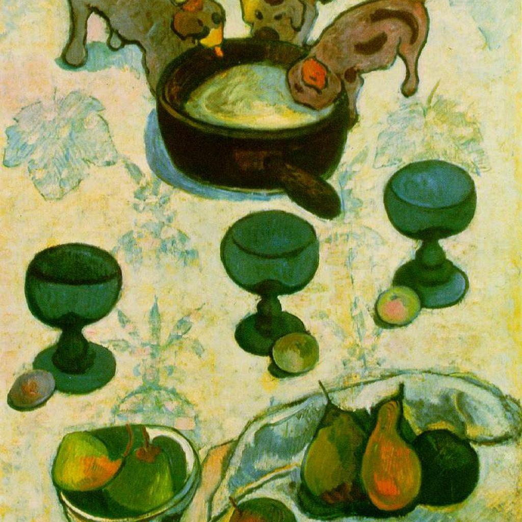 Nature morte aux trois chiots - Gauguin