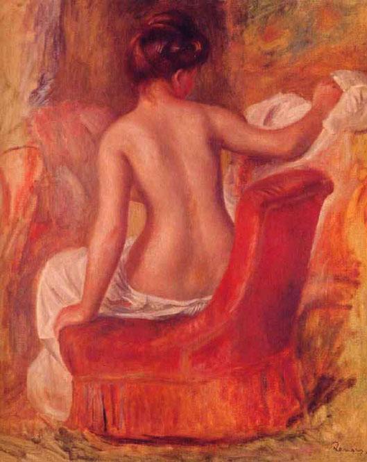 Nu dans une chaise - Renoir
