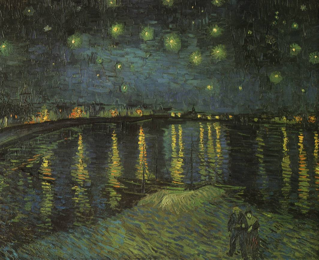 Nuit étoilée sur le Rhône - Van Gogh