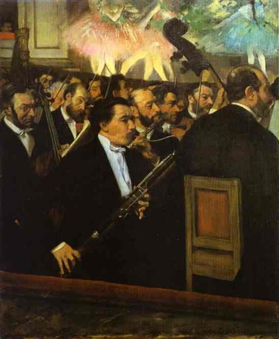 Orchestre à la maison de l'Opéra - Degas