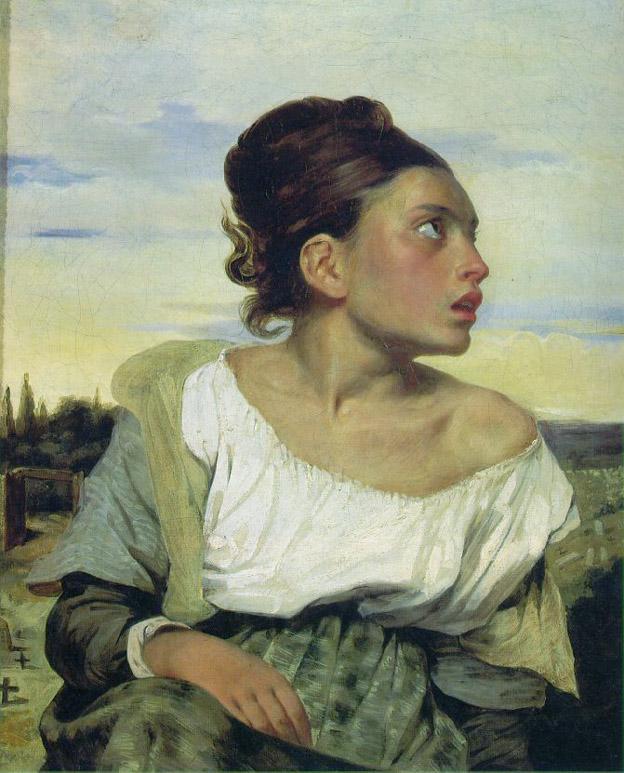Orpheline au cimetière - Delacroix