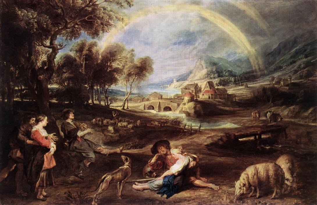 Paysage avec arc-en-ciel - Rubens