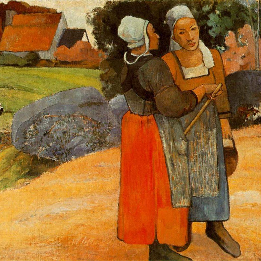 Paysannes bretonnes - Gauguin