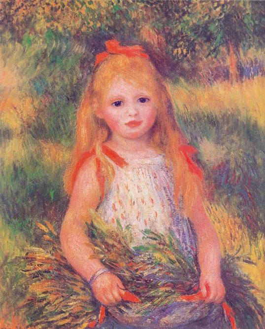 Petite fille à la gerbe - Renoir
