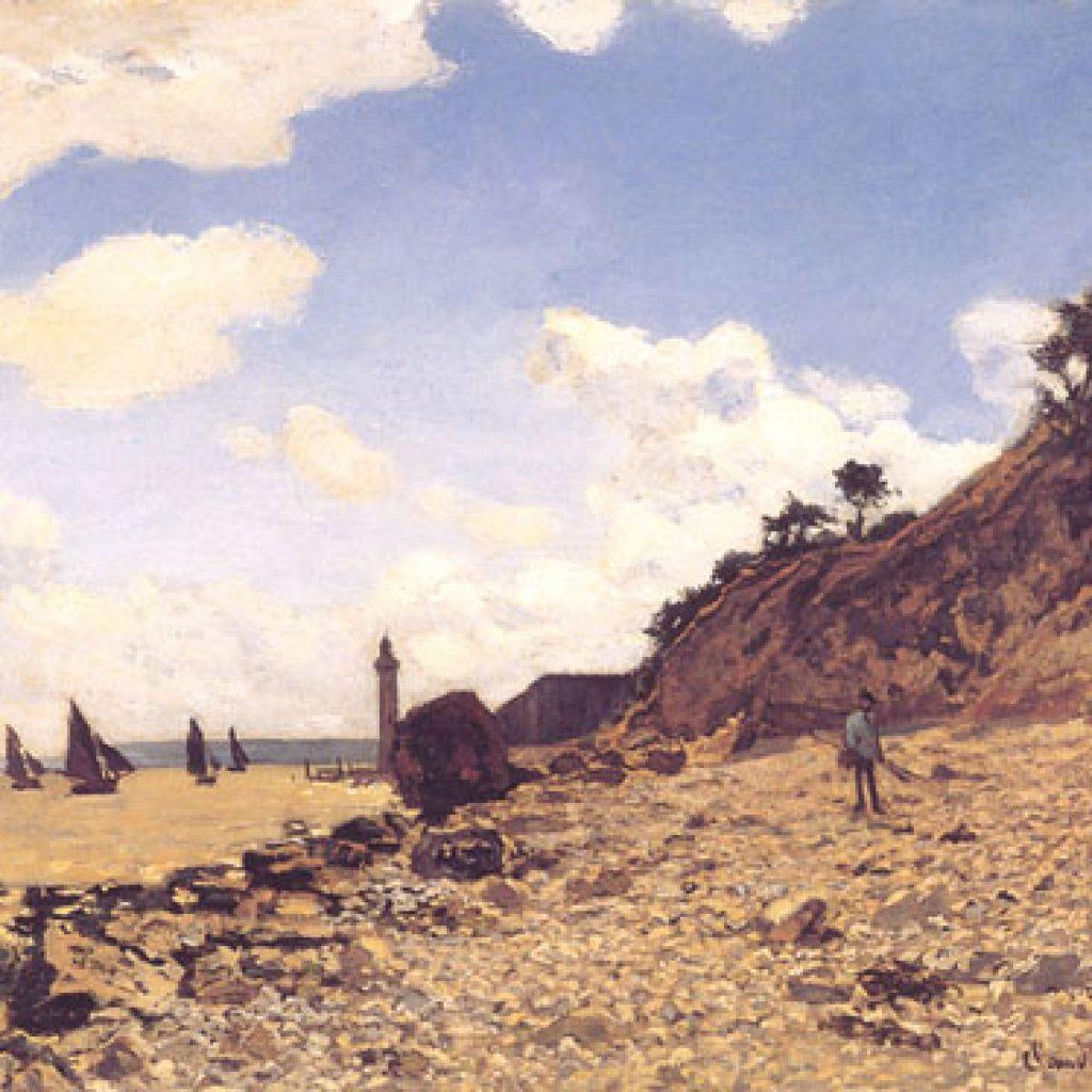 Plage à Honfleur - Monet