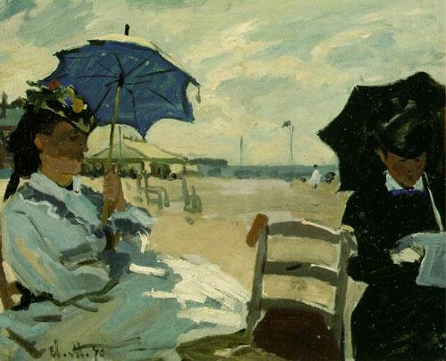 Plage à Trouville - Monet