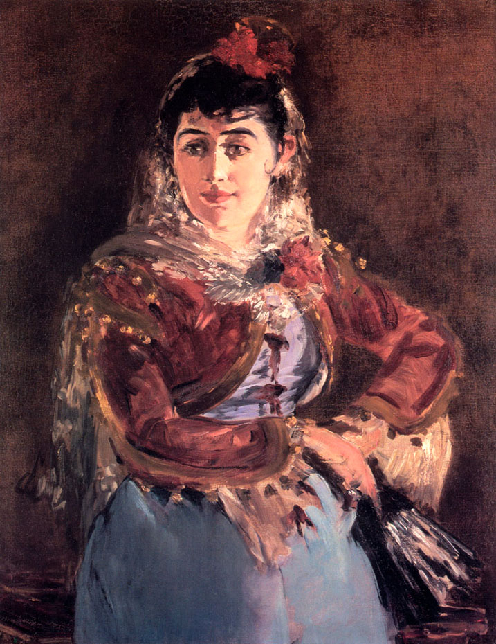 Portrail d'Emilie Ambre dans le rôle de Carmen - Manet
