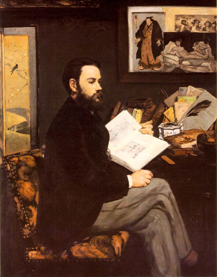 Portrait d'Emile Zola - Manet