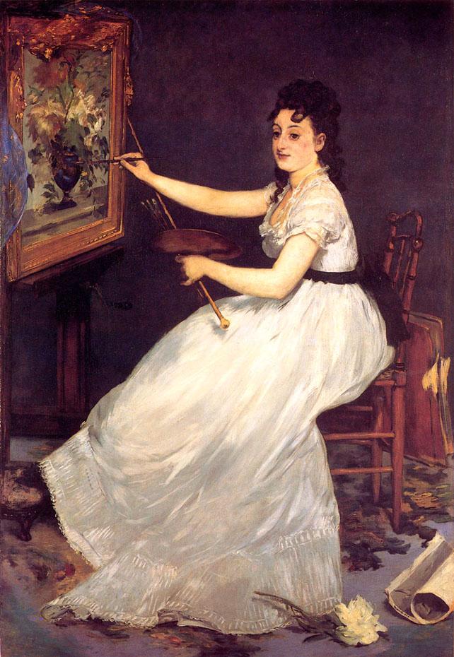 Portrait d'Eva Gonzalès - Manet