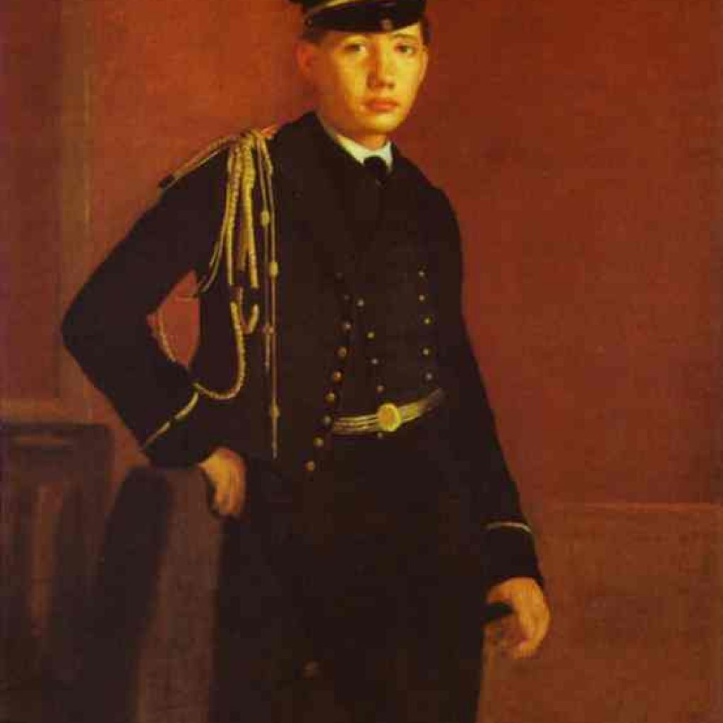 Portrait de Achille Degas - Degas