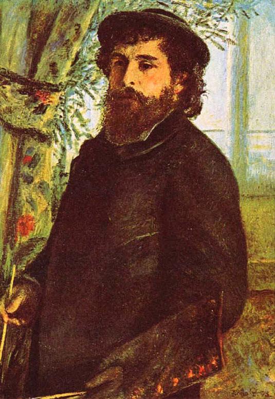 Portrait de Claude Monet - Renoir