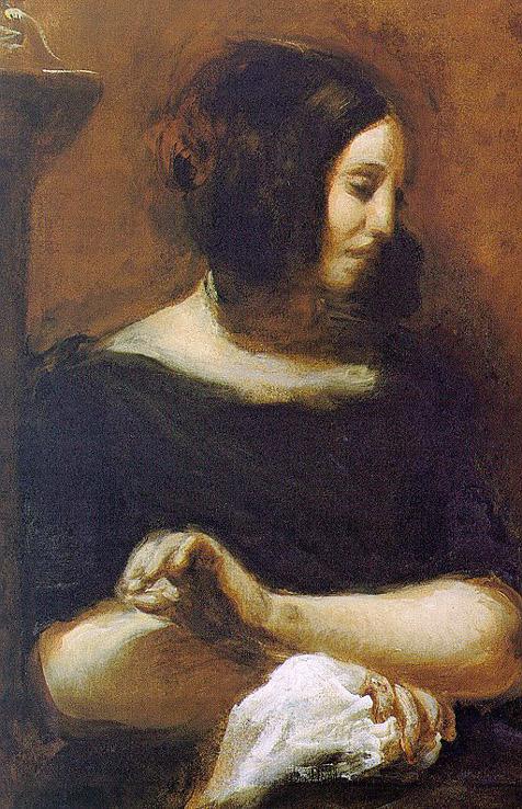 Portrait de George Sand - Delacroix