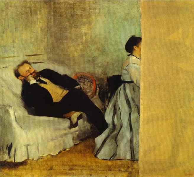Portrait de M. et Mme Manet - Degas