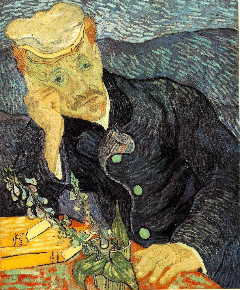 Portrait du Dr Gachet avec branche de digitale - Van Gogh