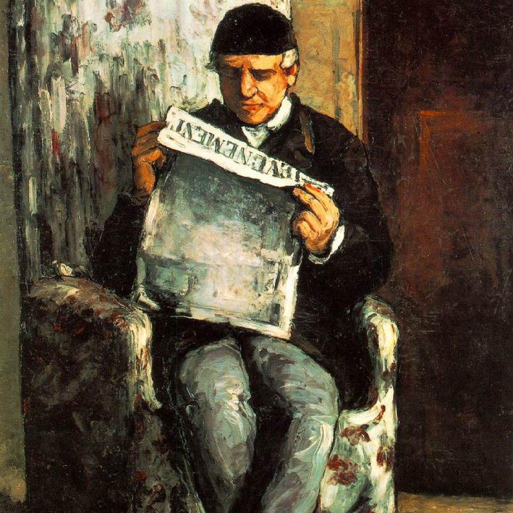 Portrait du père de l'artiste - Cézanne