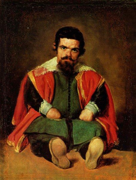 Portrait d'un nain assis en terre - Velazquez